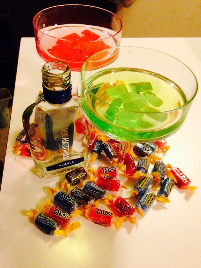 New Amsterdam Vodka With Watermelon And Green Apple Jolly Ranchers