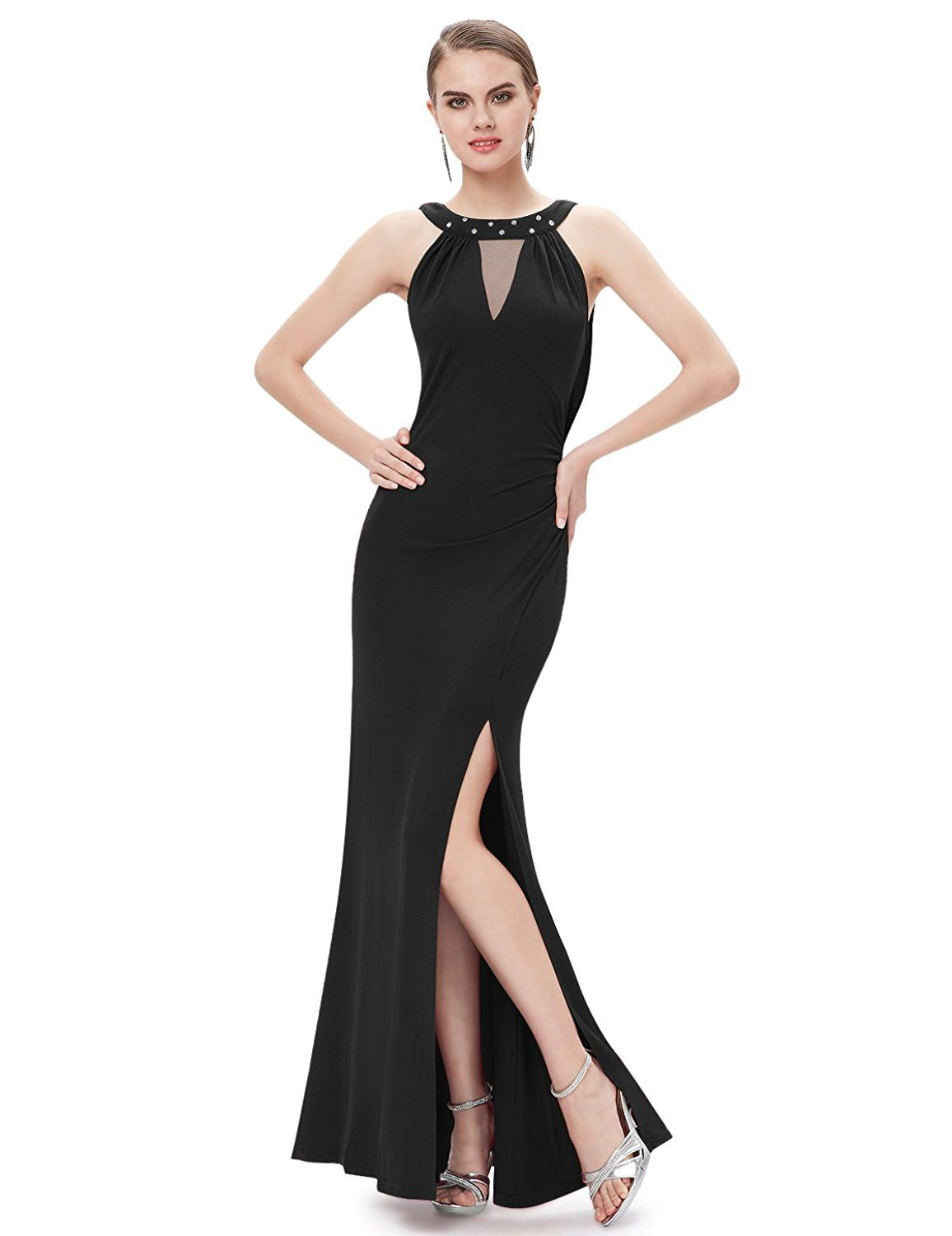 Ever Pretty Unique Rhinestones Slitted Women Long Party Dress 09904 ...