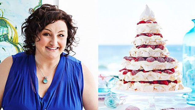Christmas Meringue Tree recipe by Julie Goodwin. Something a bit different than a straight pavlova for an Aussie Xmas.