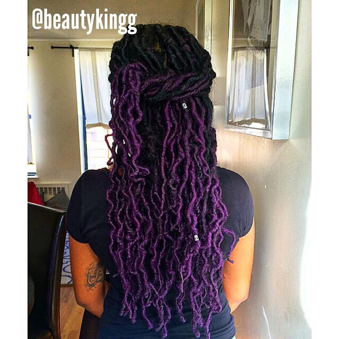 Purple Ombre Locs Google Search Natural Hair Styles