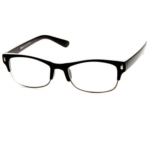 93b3c5eb96 Casual-Fashion-Horned-Rim-Half-Frame-Rectangle-Clear-Lens-Horn-Rimmed- Glasses