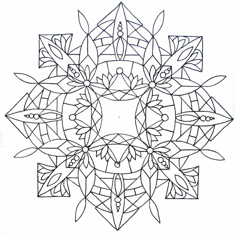 vorlagen mandala originell form muster bluetenblaetter idee ...