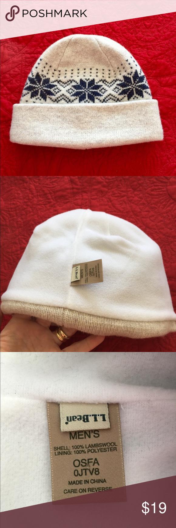 c10559572b3 L.L. Bean snowflake boggin hat beanie Men s OSFA on the tag... will fit