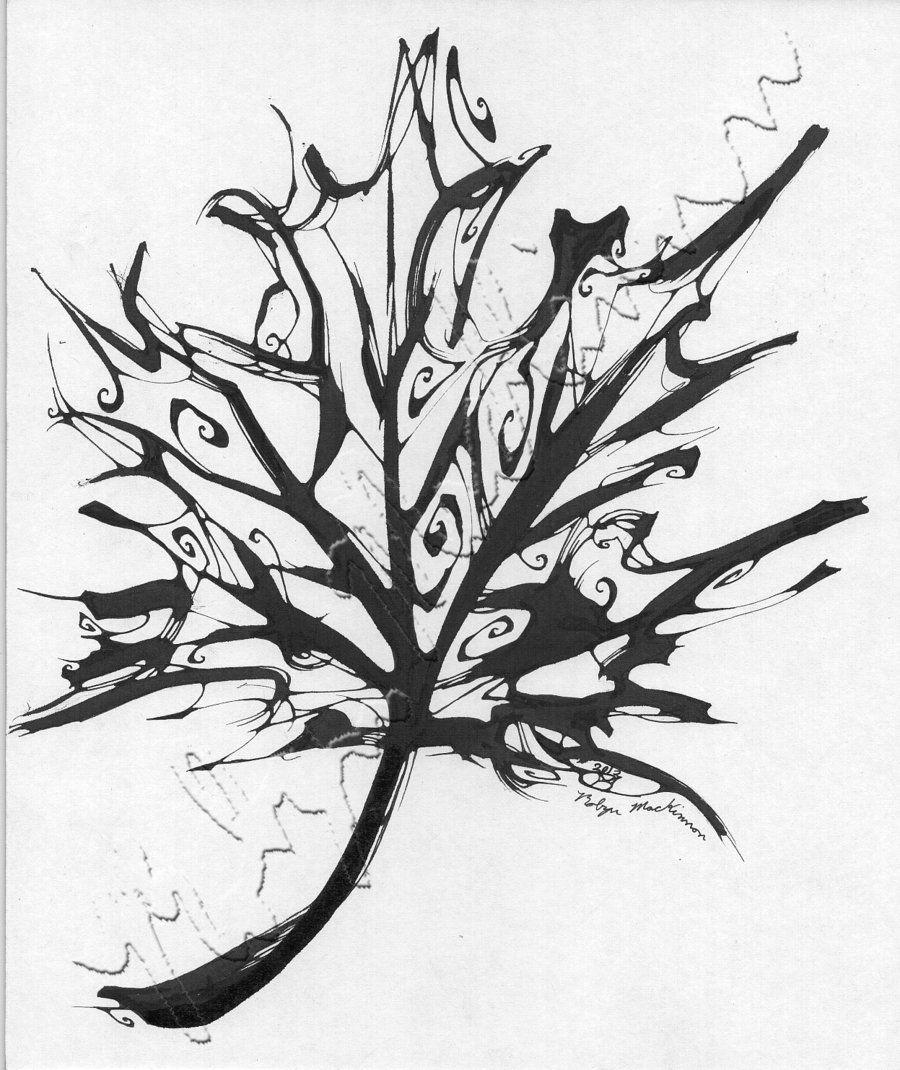 how to draw a maple leaf dragoart