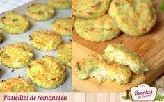 Pastelitos de romanescu, comer verdura de forma sana y deliciosa