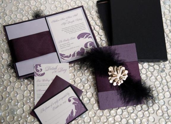 Wedding invitation ideas I DO Pinterest Purple wedding