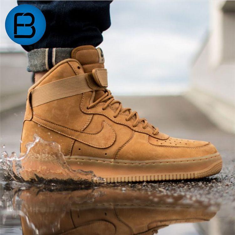 low priced b29b1 37e35 ... denmark nike air force 1 high 07 lv 8 wheat flax gum brown 882096 200  nike ...