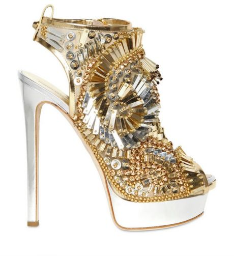 af1730071dc DSquared² - Metallic 150mm Laminated Leather Beaded Sandals - Lyst