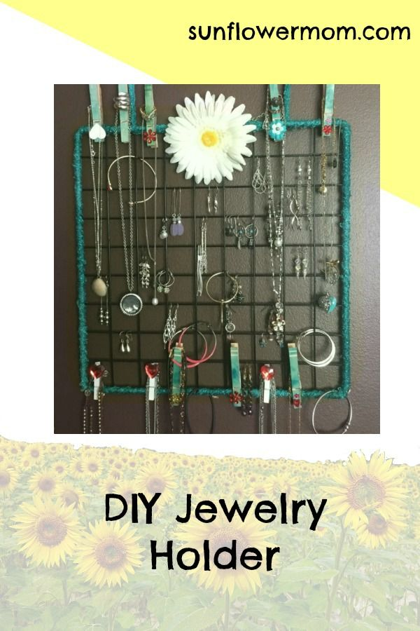 diyjewelryorganizerwall Jewellery holder Super easy and Diy