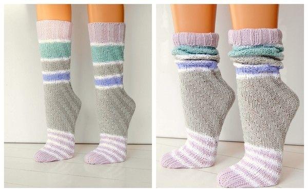 Spiralsocken Einfach Und Schnell Stricken Ohne Ferse Socken