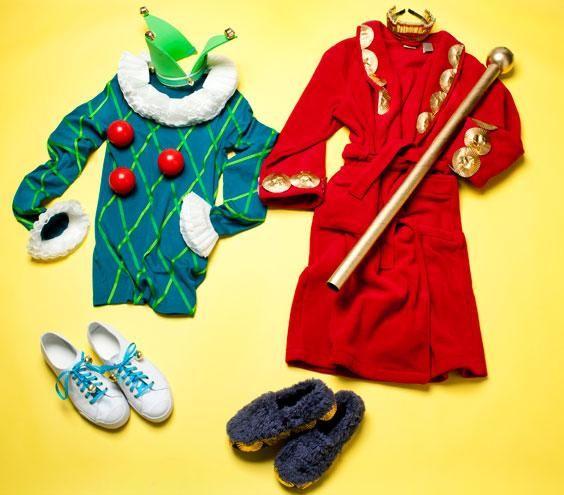 Homemade jester and king costume & Simple Halloween Costumes for the Family | King costume Costumes ...