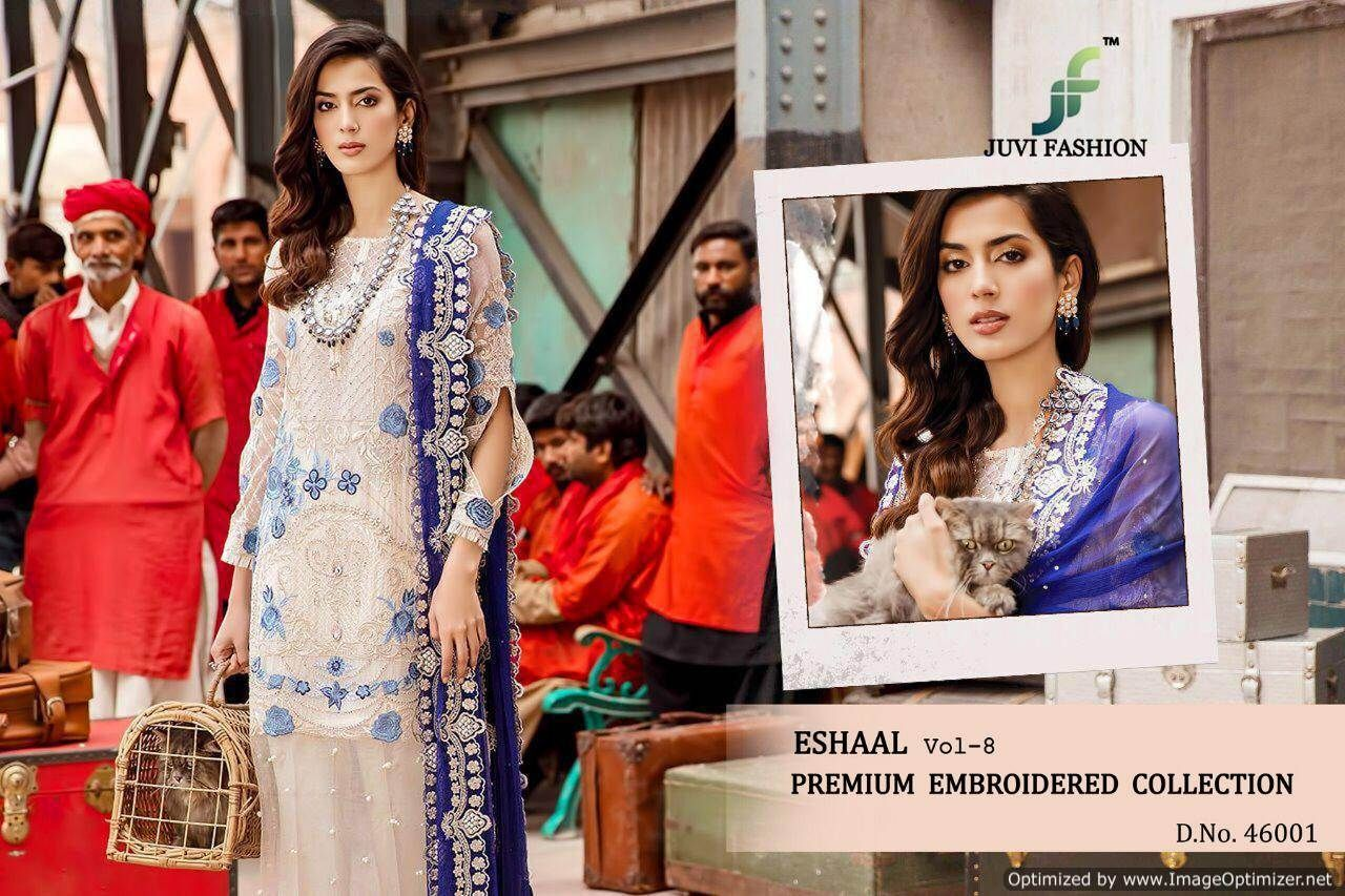 Juvi Eshaal Vol 8 By Juvi Fashion Designer Classy Stylish Faux Georgette With Heavy Embroidery Pakistani Salwar Suits At Wholesale Price Fashion Salwar Suits Pakistani Dresses