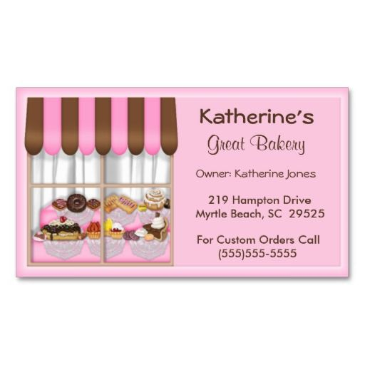 Bakery Business Cards With Images Bakery Business Cards