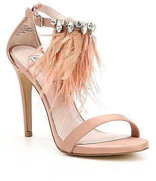 22dee10efc7 Steve Madden Savanna Feather Dress Sandals