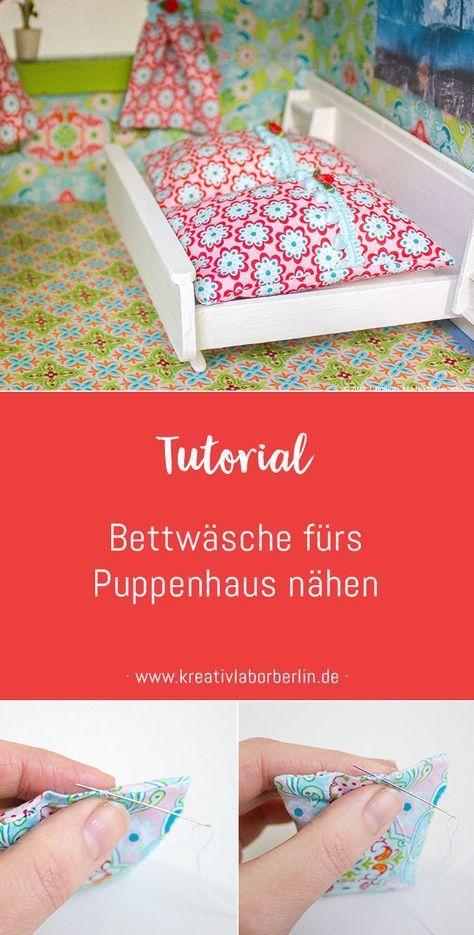 Bettwäsche für das Puppenhaus | Puppenhaus | Pinterest | Puppen ...