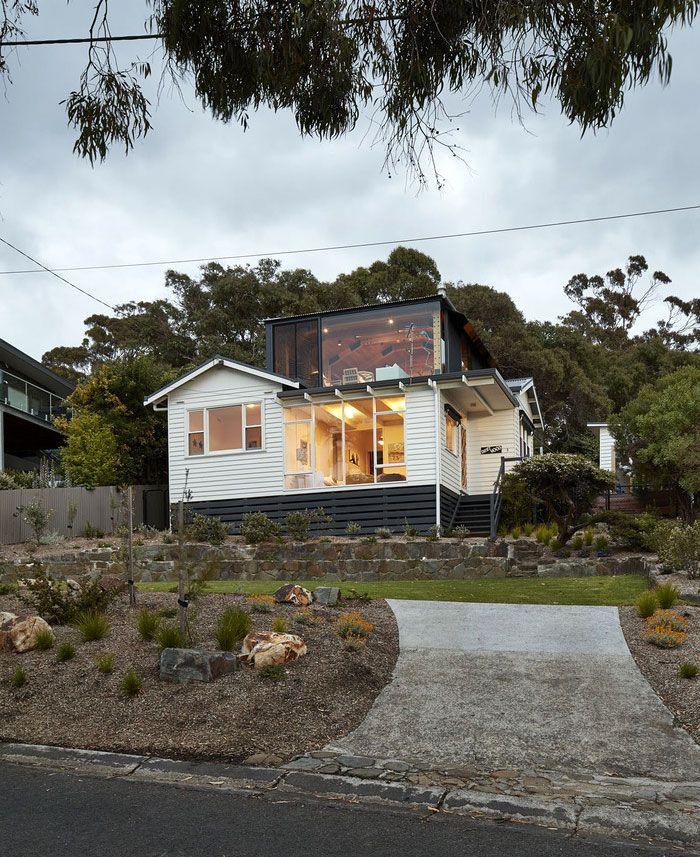 Timber Extension On A Beach House By Austin Maynard Architects Architect Beach Shack Beach House