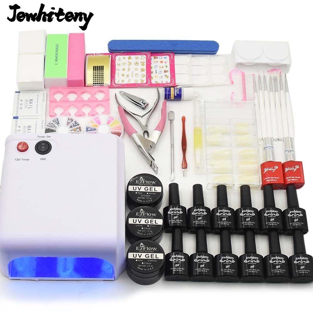 Nail Art tools manicure sets 36W UV LAMP nail dryer 10 colors soak ...
