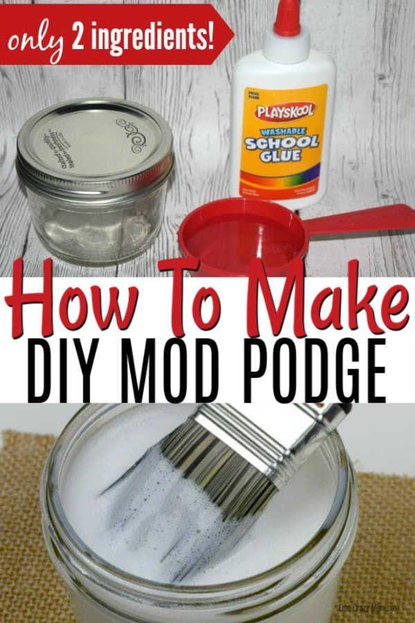 Homemade Mod Podge - How to make mod podge | Diy mod podge ...
