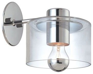 Sonneman Lighting 4801.01 Transparence Sconce Extension In Polished Chrome - modern - Wall Sconces - Mylightingsource