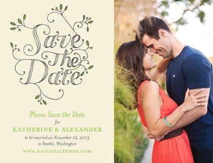 Fairytale Foliage - Save the Date Postcards - Tallu-lah - Kiwi - Green : Front