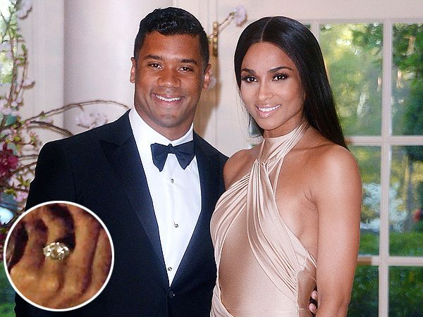See Ciaras Enormous Engagement Ring from Russell Wilson Ring and
