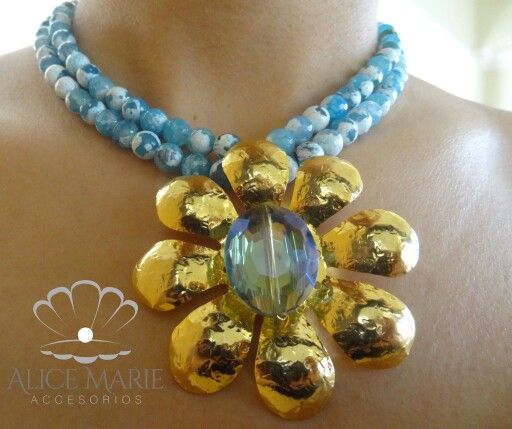 Collar piedras naturales dijes en bronce con ba o en oro for Accesorios bano piedra