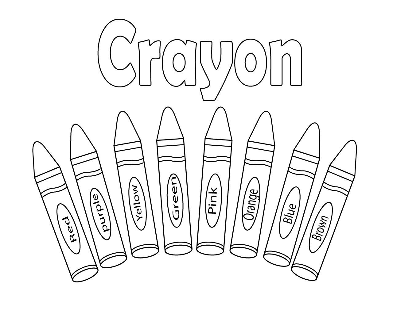 Interesting Crayon Coloring Pages Printable For Kids And