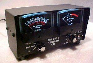 Redman CB Ham Radio Black Backlite RM2001 Test Swr Watt