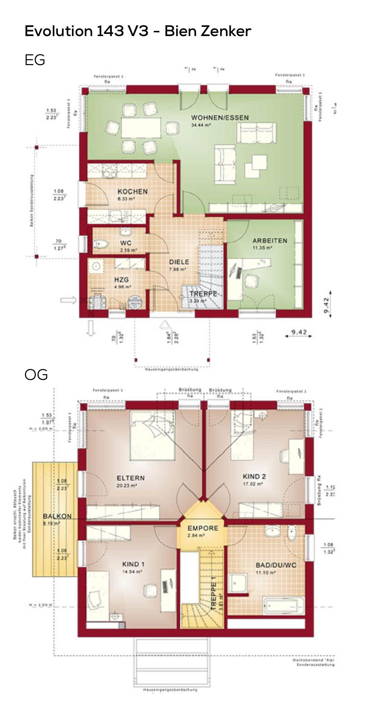 Grundriss einfamilienhaus mit satteldach architektur for Grundriss einfamilienhaus 2 vollgeschosse