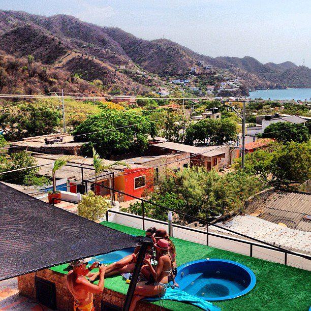 Turismo Colombia, Foto by hotelkikuxtah! #SomosTurismo Y nuestra terraza !!! #beach #sun #terrace #fun #sun #holiday #hotel #southamerica #Santamarta #Taganga #Colombia #tayrona