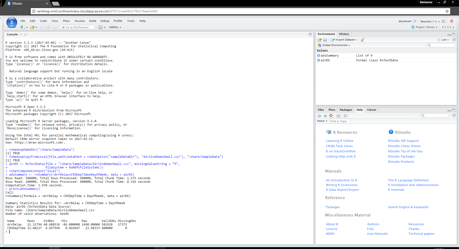 Using Rstudio Server With Microsoft R Server Parcel For Cloudera Data Science Predictive Analytics Machine Learning