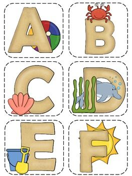 use these beach themed letters for your word wall in your beach themed classroom