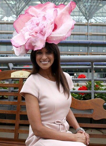 Model Jackie Sinclair wears a giant pink rose made by milliner Bundle MacLaren.