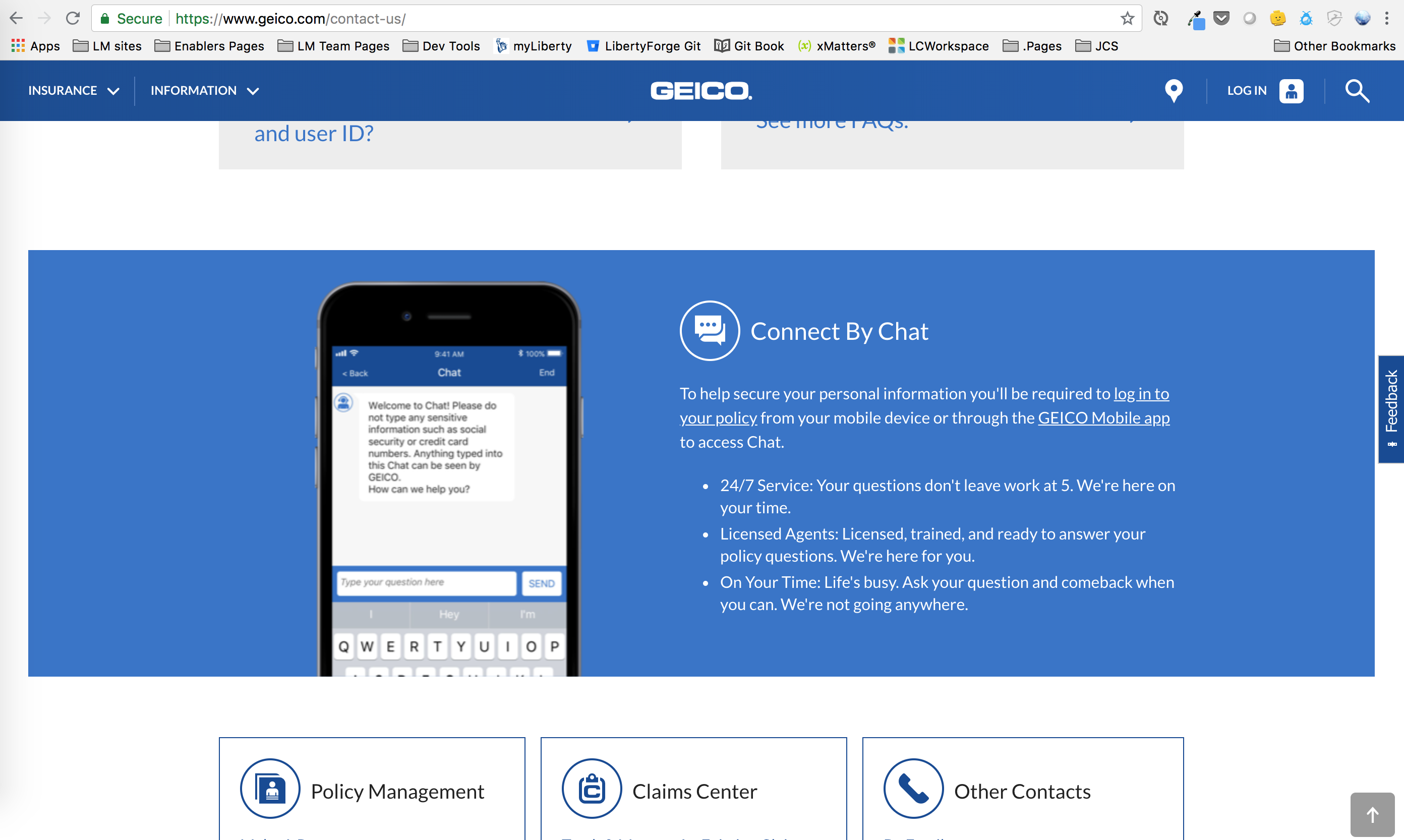Contact Us Page Gives Info About The Chat Option That Exists Once