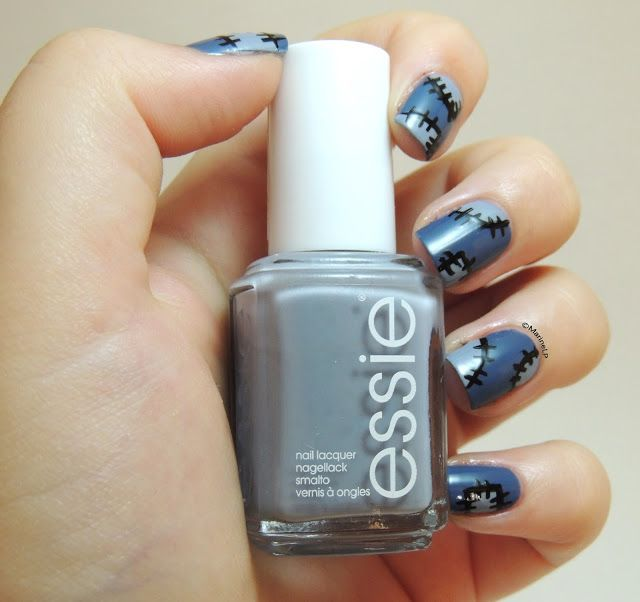 UNE C25 - Essie Cocktail Bling - Sewing nails - Couture nails - patched nails - patchwork nails