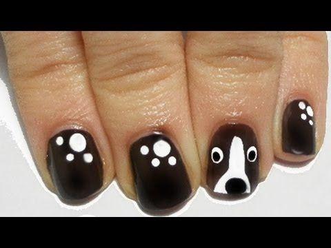 Tutorial: Easy Dog Nail Art - YouTube - Tutorial: Easy Dog Nail Art - YouTube Nails Pinterest Nail Art