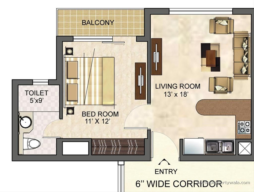 25 one bedroom house/apartment plans 19) this spacious one bedroom
