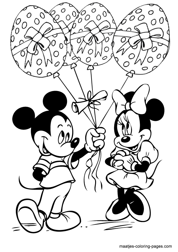 Minnie And Mickey Mouse Easter Eggs Balloons Mickey Coloring Pages Disney Coloring Pages Minnie Mouse Coloring Pages