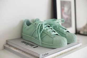 adidas superstar light green