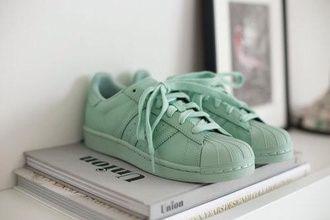 shoes green basket adidas supercolor