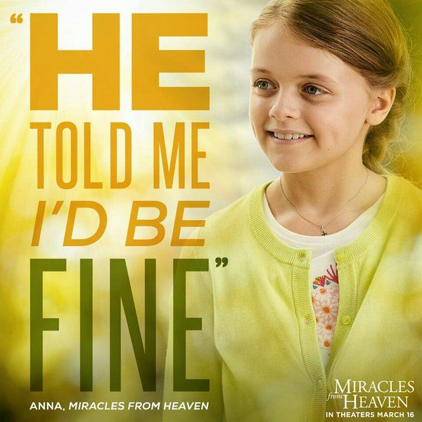 10 Miracles From Heaven Ideas Miracles From Heaven Miracles Heaven Movie