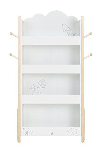 Labebe Kid Book Display Wood White Bookshelf For Kid 1 Y