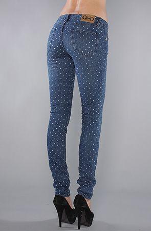 Rad polka dot jeans