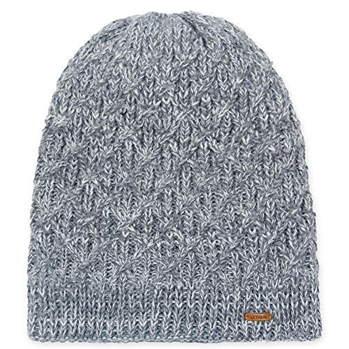 a86ae7b94d3 Fleece Lined Beanie Hat Mens Winter Solid Color Warm Knit Ski Skull ...
