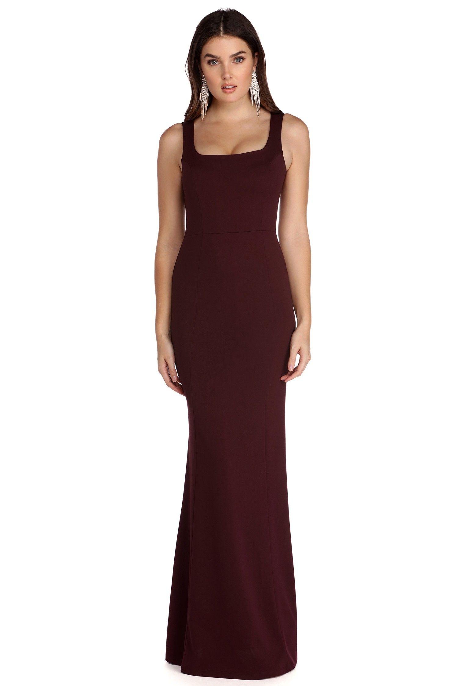 Final sale zayla burgundy wine not dress events u parties