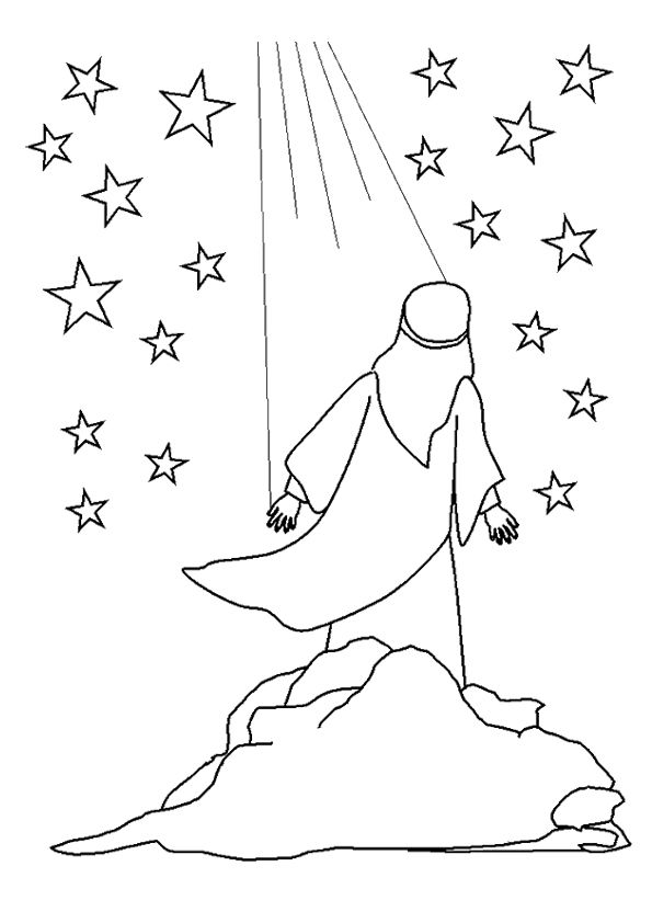 Print Coloring Image Momjunction Sunday School Coloring Pages Abraham And Sarah Bible School