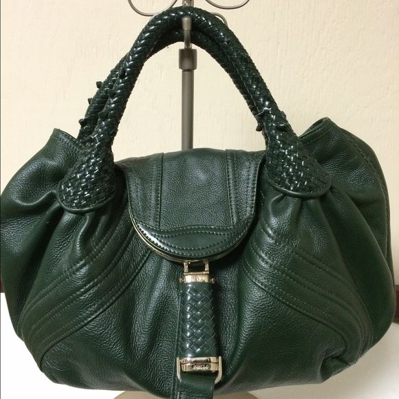 1b416f5623bb Fendi Spy Bag Hunter green leather Small Spy Bag Zucca+Lamb+Calf. Excellent  condition. Comes with dust bag   certificate of authenticity. FENDI Bags