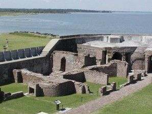 Fort Sumter National Monument located in the Charleston Harbor.  Boats depart for tours from Mt. Pleasant and Downtown Charleston, South Carolina.