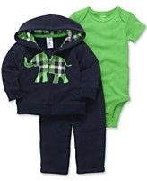 Carter's Baby Set, Baby Boys 3-Piece Bodysuit, Cardigan and Pants