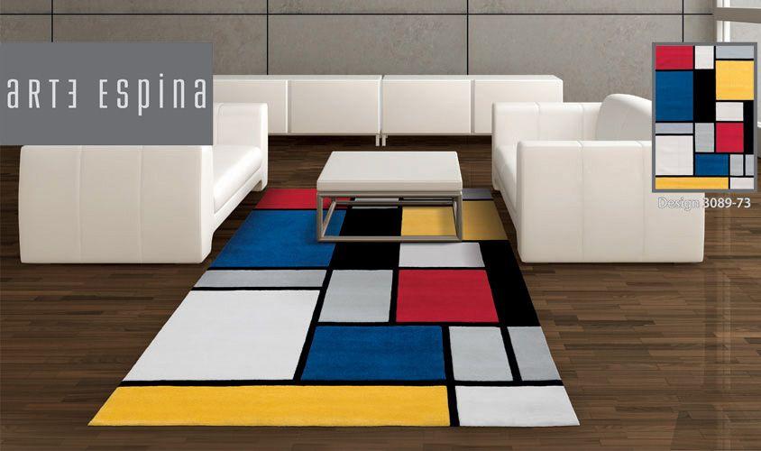 Tappeto disegno mondrian colorato Tappeti moderni